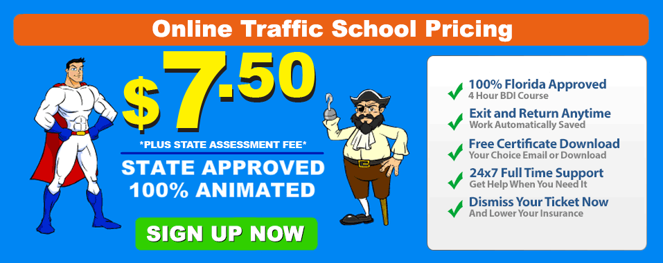 Florida Online Traffic School Pricing By Comedy Driving Traffic